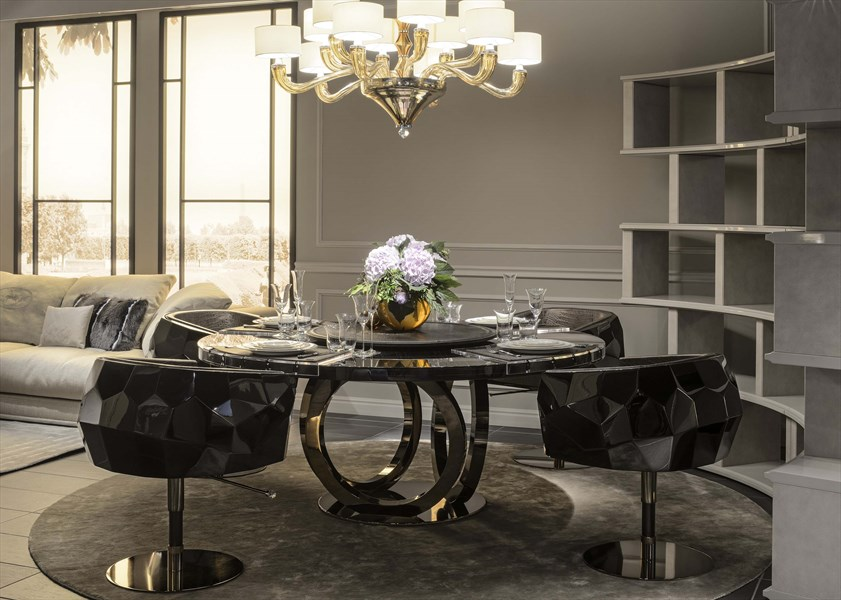 FF Galileo round table_Crystal armchairs