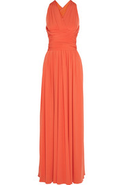 Halston backless maxi dress