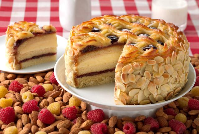 juniors raspberry almond layercake