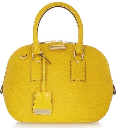 Burberry Orchard small croc-effect leather bowling bag