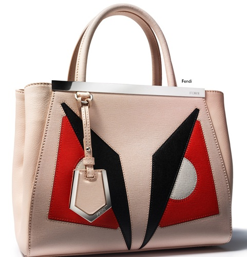 Fendi pastel pink leather tote
