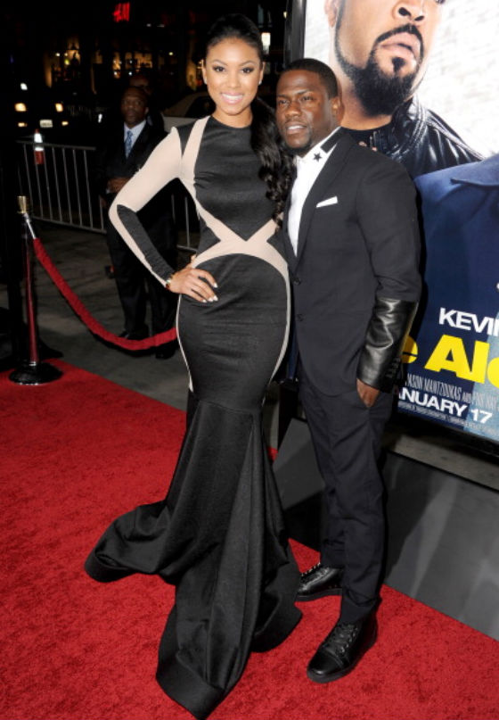 Kevin-Hart-and-gilfriend-Eniko-Parrish-at-Ride-Along-premiere