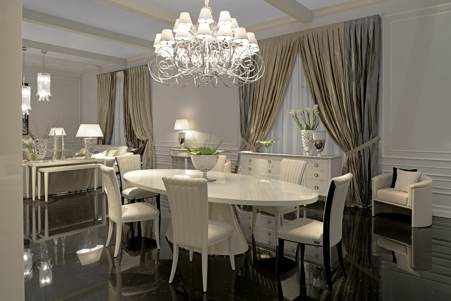HH Plisse dining table_Elisabetta armchairs_Noblesse armchair